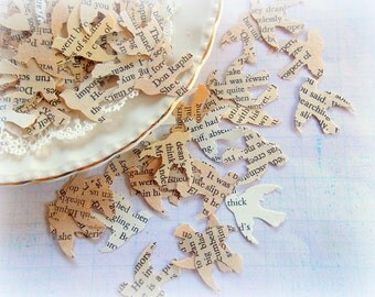 Vintage Romantic Love Bird Wedding Confetti / Wedding Decor / 50 Pieces / Party Confetti / Bird Confetti