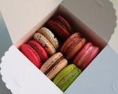 20 mini cake boxes in white for french macaron
