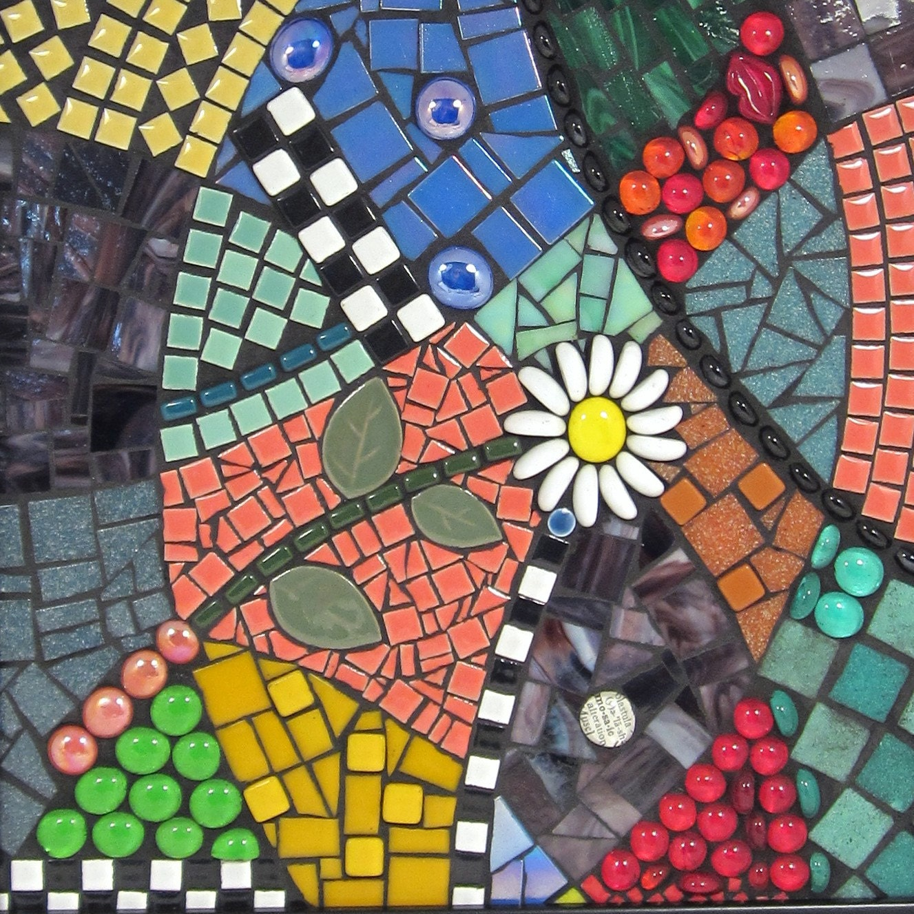 Creative home decor mosaic fresh framed wall art for for Mosaic home decor