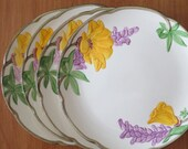 "Vintage Franciscan Ware Poppy 8"" Salad Plates Set of 4 Made in California"