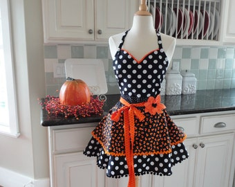 Candy Corn   ~Women's Halloween Apron  ~ 4RetroSisters