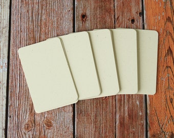 50pc BISCUIT Cream Inclusions Series Business Card Blanks