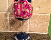 Mother of the Bride, Mother of the Groom,  Bridesmaids, etc etc Hand painted and Personalized Wine glasses Etc. Etc.