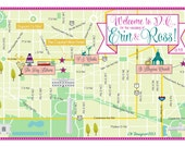 Cute Wedding Map Washington D.C. -Choose your city!