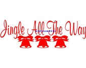 Jingle All The Way - Christmas Door Wall Decal - Vinyl Wall Decal, Wall Decor, Wall Sticker, Christmas Door Decal, Christmas Decor