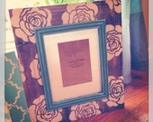 8x10 Custom painted and stained 8x10 picture frame with trim. Painted to match your decor Wedding/Weddingdecor/Homedecor/Gallery wall