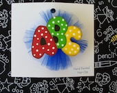 Back to School Hair Clip, 1st Day of School Bow, School Spirit, School Colors Custom Hair Clip