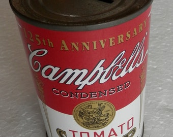vintage 125th anniversary Campbells Tomato Soup bank