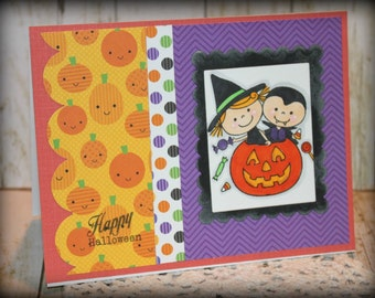 Happy Halloween Handmade Greeting Card *Sale*