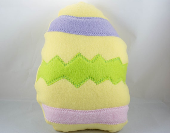 Easter Egg Dog Toy, squeaky, handmade, eggs, yellow, decorated ...