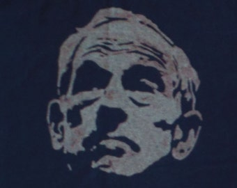Ron Paul XL upcycled black t-shirt one of a kind original acid washed design liberty (shirt no.14)