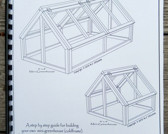 Mini- Greenhouse Plans - Printed Version