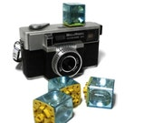 Vintage Belle Howell Camera.  Autoload Model 341 Focusmatic Camera.  Black & Silver Retro Camera.   1970's Belle Howell  Photography Camera