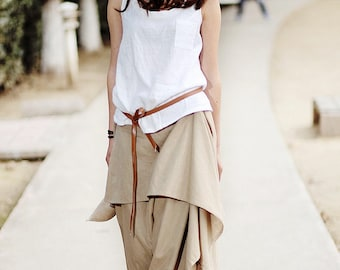 Summer Casual Linen Tank Top in White(more colour and size choice)-NS12