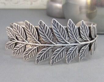 Fern Bracelet,Cuff,Silver Bracelet,Cuff Bracelet,Bracelet,Silver,Branch Bracelet,Branch Cuff,Fern Bracelet,Branch,Leaf. valleygirldesigns.