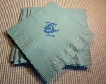 Blue Helicopter Paper Cocktail/ Lunch/ Dinner Napkins