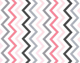 Michael Miller Mini Chic Chevron in girl - 1 yard