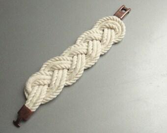 Eco friendly cotton rope nautical braided bracelet