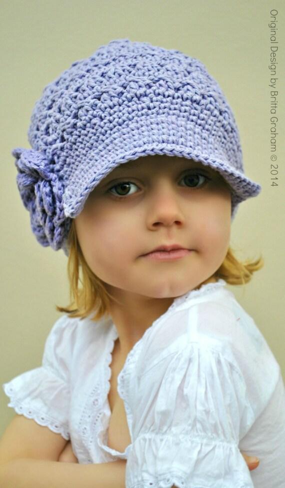 Crochet Hat Pattern Newsboy Pattern for girls in baby
