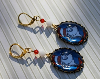 The Cat in the Hat Earrings