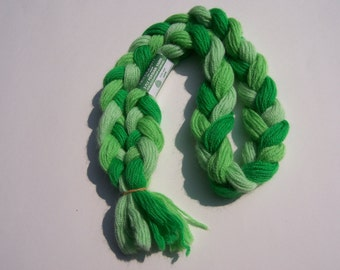 1 Skein Greene Needleart 100% Wool 3 Ply Persian 3 Shades of Green Yarn Made in England 2.6 oz total