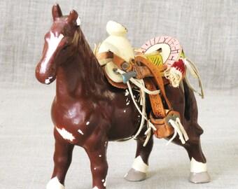 Vintage Chalkware Horse Figurine, Farm Animal, Equestrian, Equine, Carnival Souvenir, Stallion, Mare