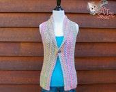 Crochet Pattern, Womens crochet top pattern, Crochet vest pattern,, Collared vest, instant download, one piece, easy crochet pattern