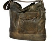 Upcycled Bomber Jacket turned Handbag with US Army Tent Interior