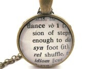 Dance Dictionary Definition Necklace