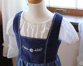 Johanna's  Hand Embroidered Dirndl Dress Sizes 2-12