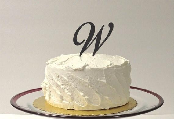 LETTER W - MONOGRAM We...W Monogram Wedding Cake Toppers