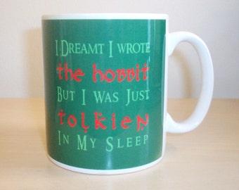 Hobbit pun Tolkien mug