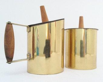 Scandinavian/Danish Brass Creamer and Sugar Set