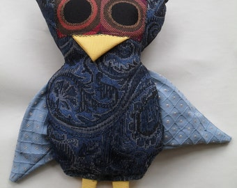 Owl Stuffed Animal - Blue