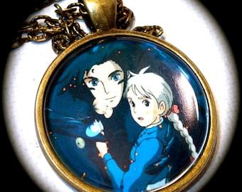 HOWL & SOPHIE . Glass Pendant Necklace . Howl's Moving Castle . GHIBLI . GirlGameGeek