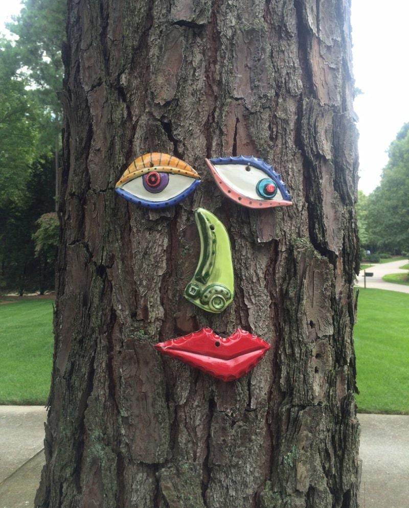 Picasso Tree Face Original Garden Art Yard Or Fence Art