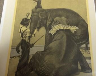 Paul Bransom illustrator circus illustration rare. 8 x 10 approx. 1909.