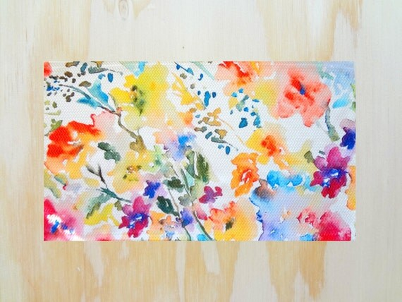 Sale Throw Rug With Watercolor Floral Design Floral Area