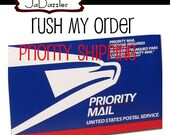 RUSH PRIORITY SHIPPING  // add on for orders requiring rush service in studio rush of 2 business days with 3 business days Priority Shipping