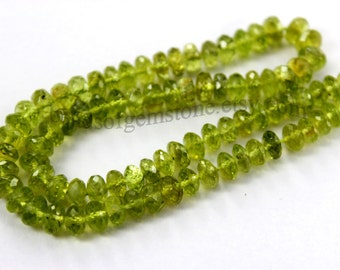 Peridot Faceted Roundel (Quality A) /  5 to 6 mm /  26 cm / 70.30 carats /   ST-687