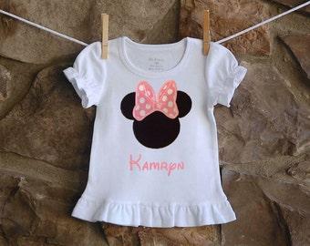 Pink Minnie Applique Shirt