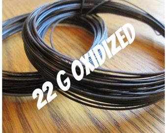Oxidized Copper Wire 22g Round Dead Soft 5-100ft