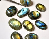 Labradorite Gemstone Cabochons, Oval AAA - 10 pcs Parcel - 21.0-26.4 mm - 200.3 ct - 140219-78