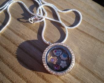 Cat Lover Memory Locket Necklace