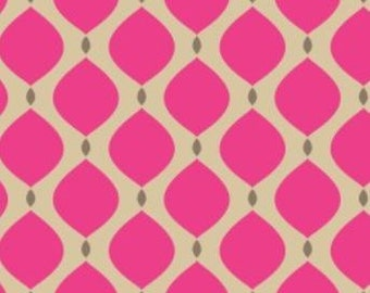 Camelot Fabric's Bright Now, Drops (Pink) 1 yard