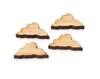 """Light Cloud Charms - 1"""" Size - Pack of 15 - Laser Cut Maple Wood - Etsy Itsies by Timber Green Woods"""