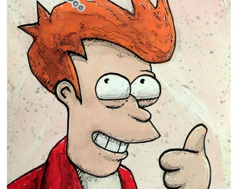 "Fry - 8x10 Art Print - ""The Mighty One"" - Futurama - Limited Edition Print"
