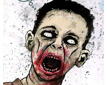 Gamer Zombie - 8x10 Art Print