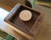 Custom Etching 25 letters or less - Perfect Addition to Wood 5th Anniversary Gift!