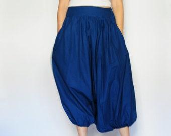 SALE 50% All Around The World Part II...Dark blue Cotton Harem Pants